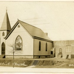 First church building and Sunday School building, c. 1910