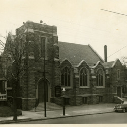 New church building, exterior photo, c. 1940