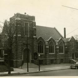 New church building, exterior photo, c. 1940