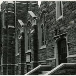 Church building, exterior photograph, c. 1975
