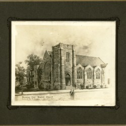 New church building, architectural presentation drawing, c. 1922