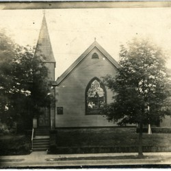 First church building, exterior photograph, c. 1920