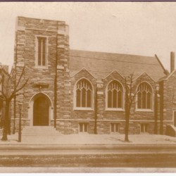 Postcard of New Church Building, c. 1928