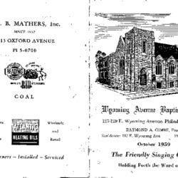 Church directory, 1959